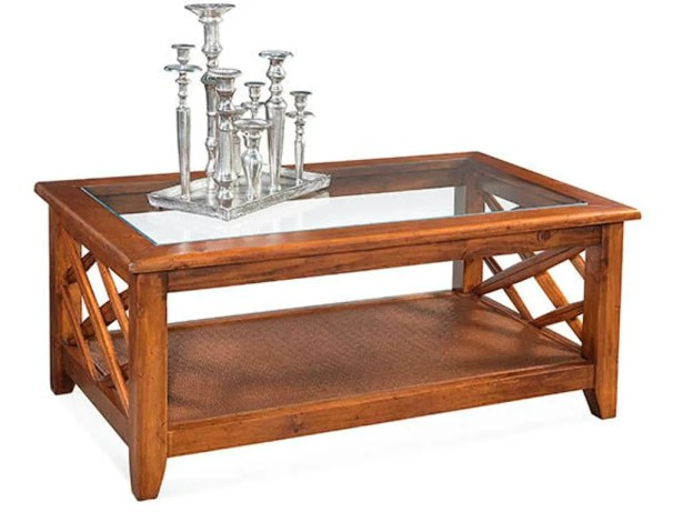 Cross Roads Coffee Table Color: Driftwood