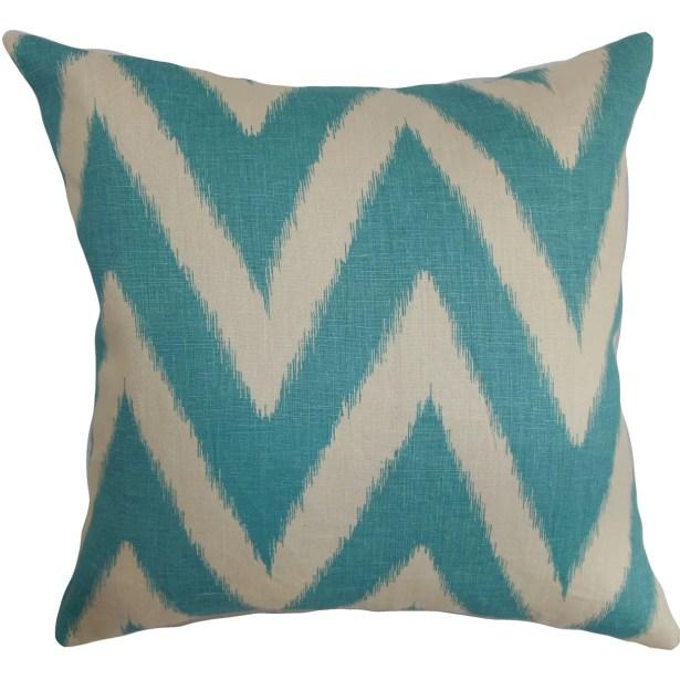 Bakana Zigzag Bedding Sham Size: Euro, Color: Aquamarine