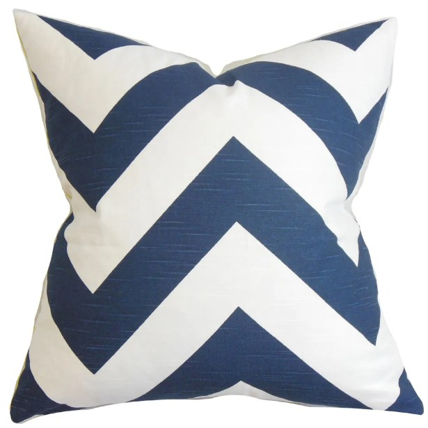 Eir Zigzag Bedding Sham Color: Dark Blue, Size: King
