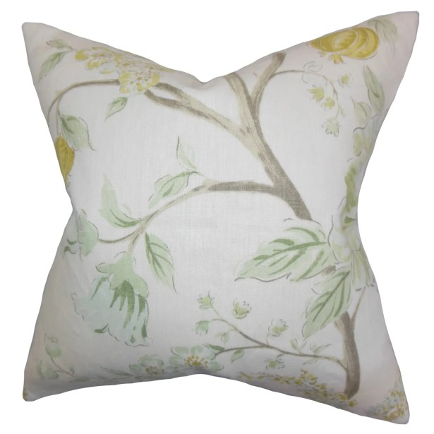 Ivria Floral Bedding Sham Size: Euro, Color: Meadow
