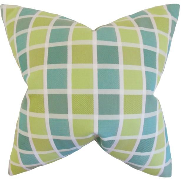 Gali Geometric Bedding Sham Size: King, Color: Green