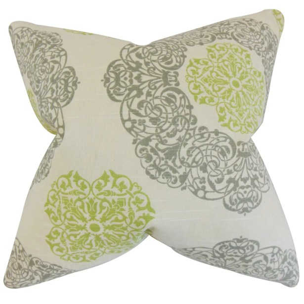 Ilona Geometric Bedding Sham Size: Queen, Color: Green