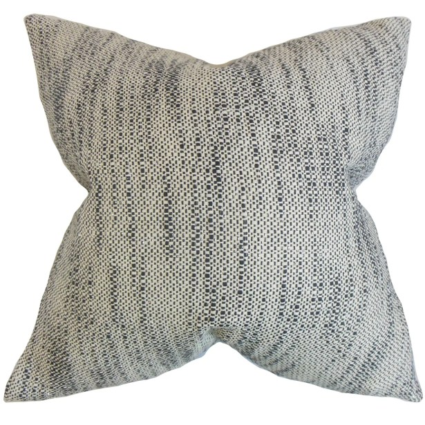 Chrisholm Striped Throw Pillow Color: Ebony, Size: 24