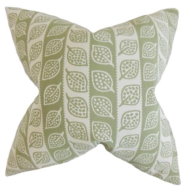 Ottilie Foliage Bedding Sham Size: King, Color: Green