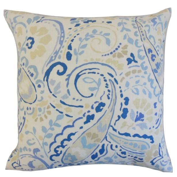 Robbia Floral Bedding Sham Size: Euro, Color: Ocean