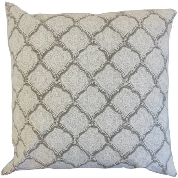 Chaney Geometric Bedding Sham Size: Queen, Color: Mineral