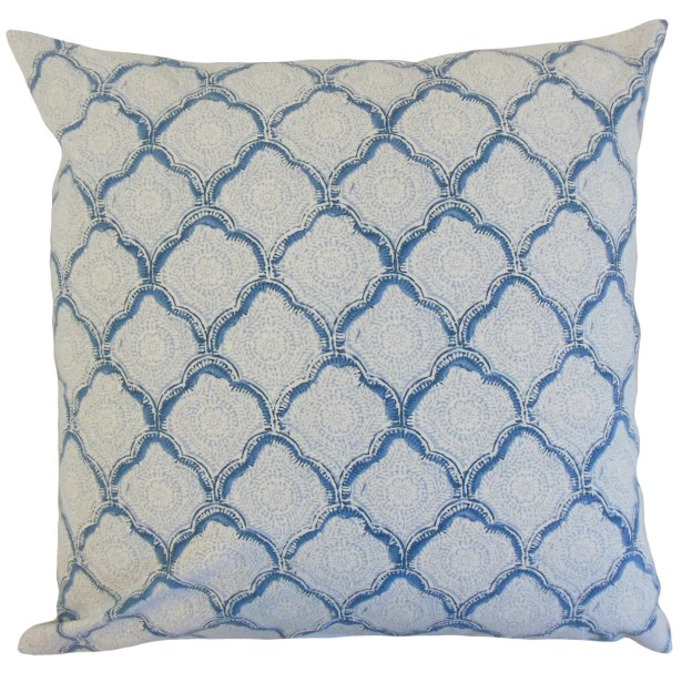 Chaney Geometric Bedding Sham Size: Standard, Color: Sky