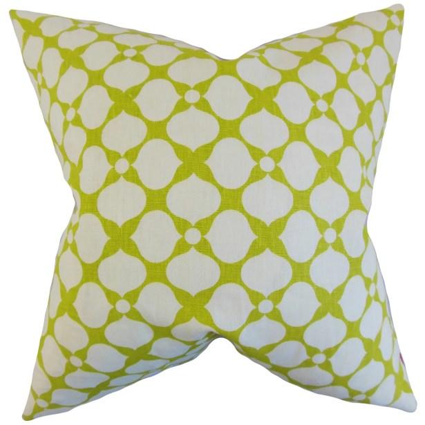 Bunnell Geometric Bedding Sham Size: Standard, Color: Pear
