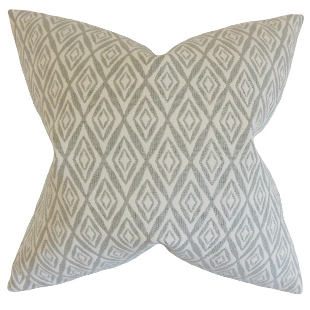 Najila Geometric Bedding Sham Size: Standard, Color: Gray