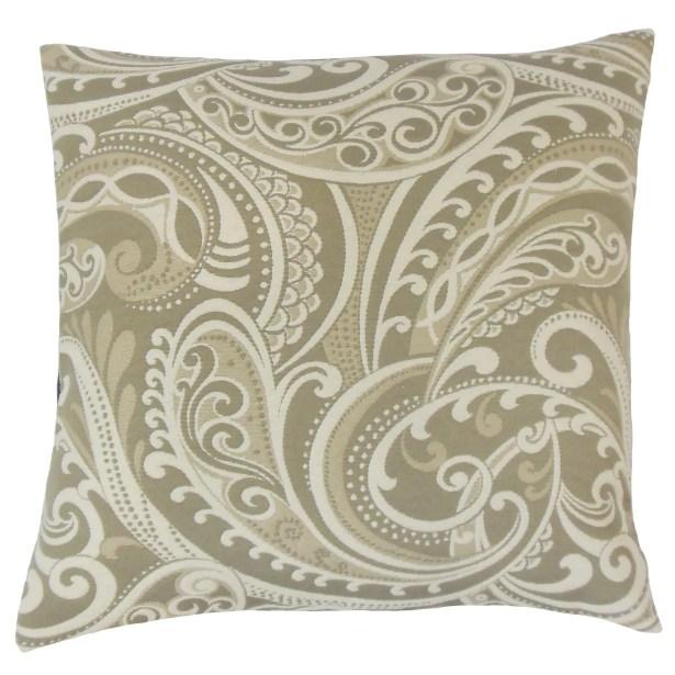 Natashaly Damask Bedding Sham Size: King, Color: Linen