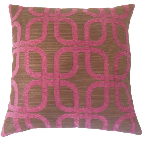 Bertille Geometric Bedding Sham Size: Euro, Color: Berry