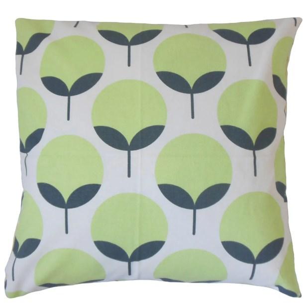 Utcha Cotton Throw Pillow Color: Salmon, Size: 24