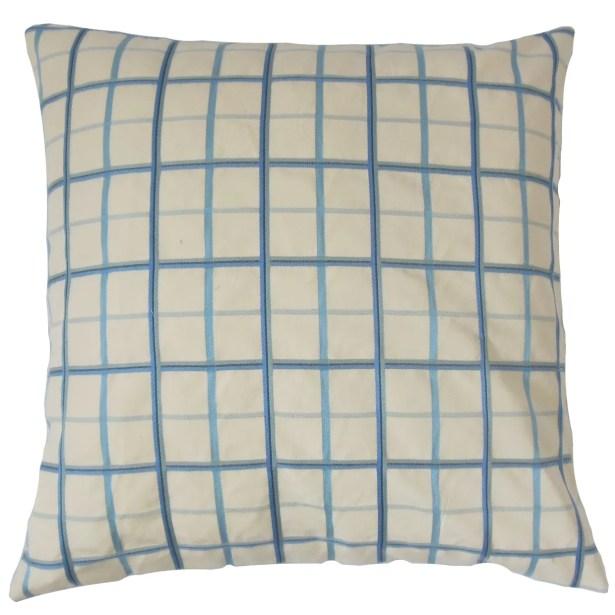 Ismene Plaid Cotton Throw Pillow Size: 22