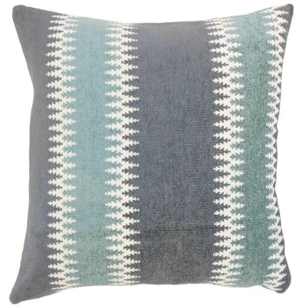 Yamilet Throw Pillow Color: Glacier, Size: 22