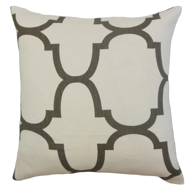 Cascade Linen Throw Pillow Color: Clove, Size: 20