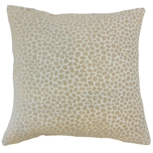 Badr Geometric Throw Pillow Color: Ivory, Size: 24