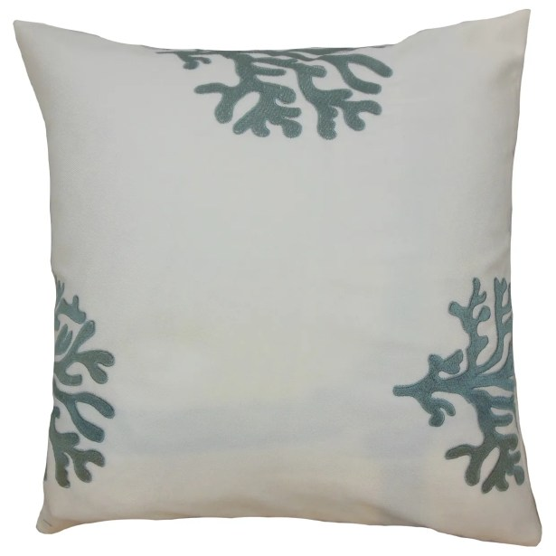 Ziza Acetate Throw Pillow Color: Grey, Size: 20