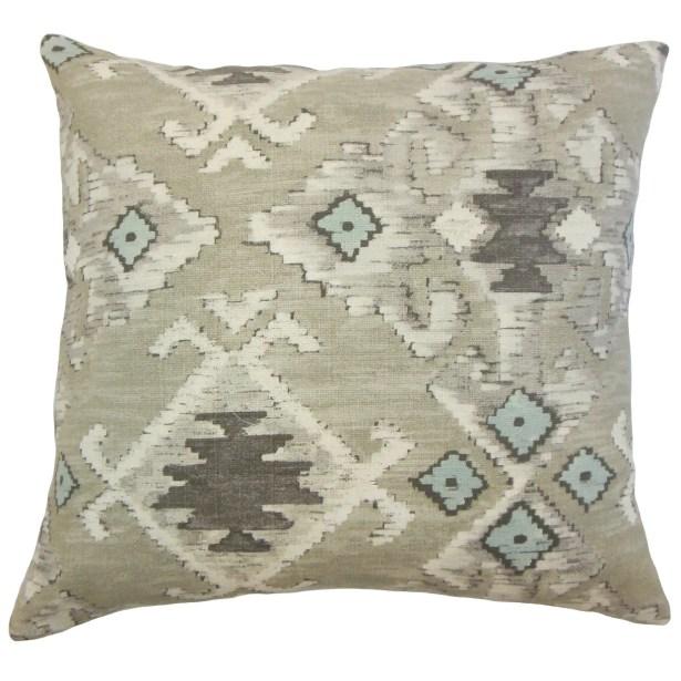 Nouevel Cotton Throw Pillow Color: Aqua Cocoa, Size: 24