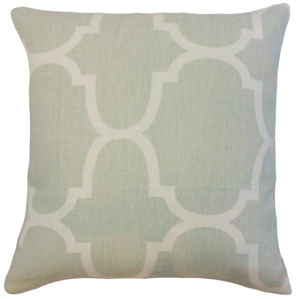 Channon Geometric Bedding Sham Size: King, Color: Seafoam