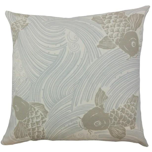 Ailies Graphic Bedding Sham Size: King, Color: Mist