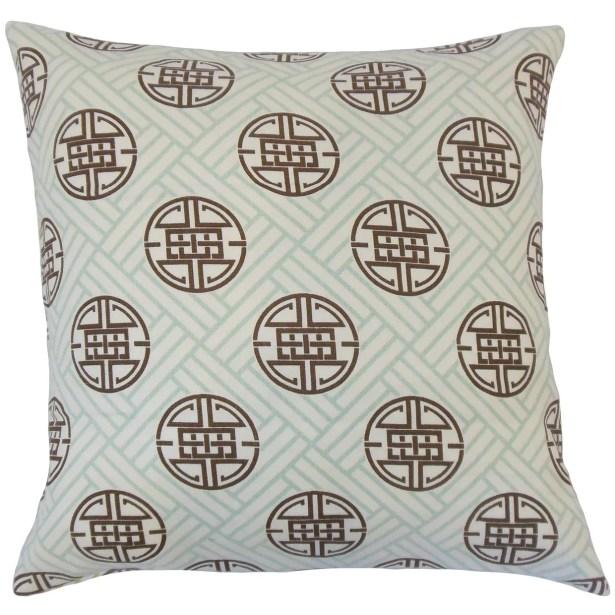 Delit Linen Throw Pillow Color: Lime, Size: 22