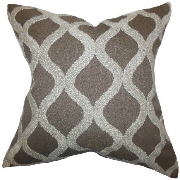 Kidd Geometric Throw Pillow Size: 24