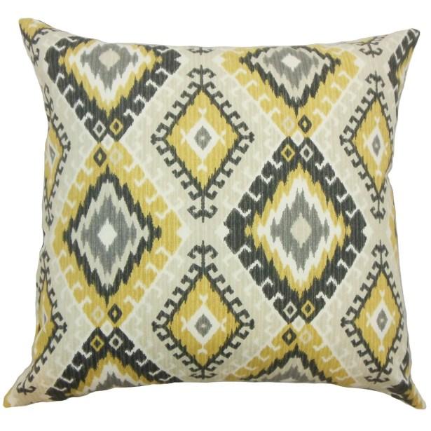 Brinsmead Geometric Cotton Throw Pillow Size: 20