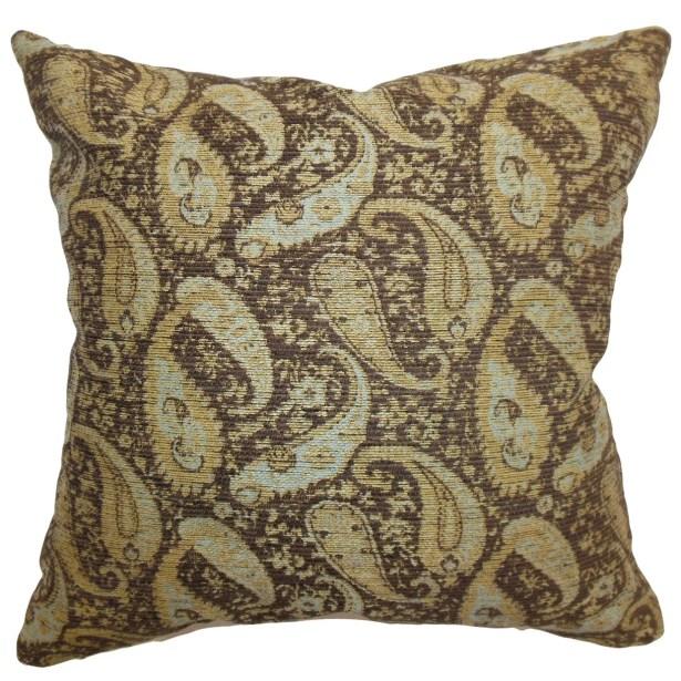 Aeldra Paisley Throw Pillow Size: 24