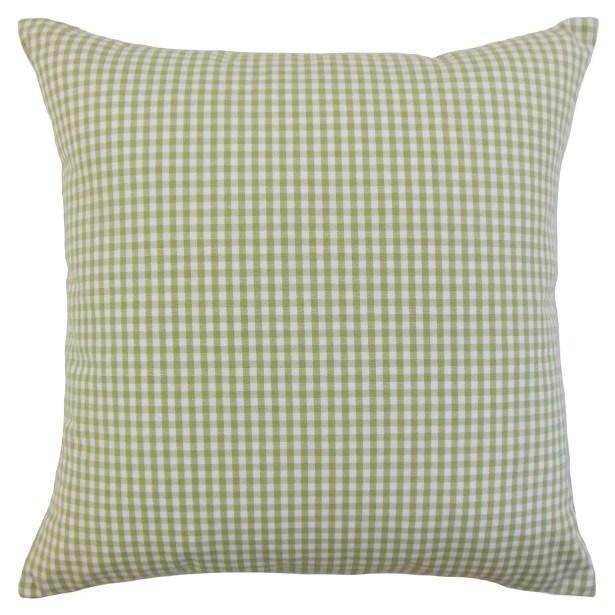 Keats Plaid Bedding Sham Size: Queen, Color: Sage