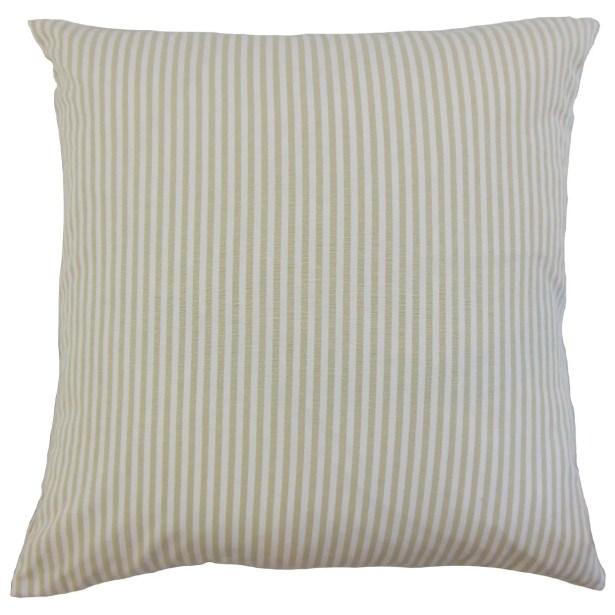 Melinda Stripes Bedding Sham Size: Euro, Color: Beige