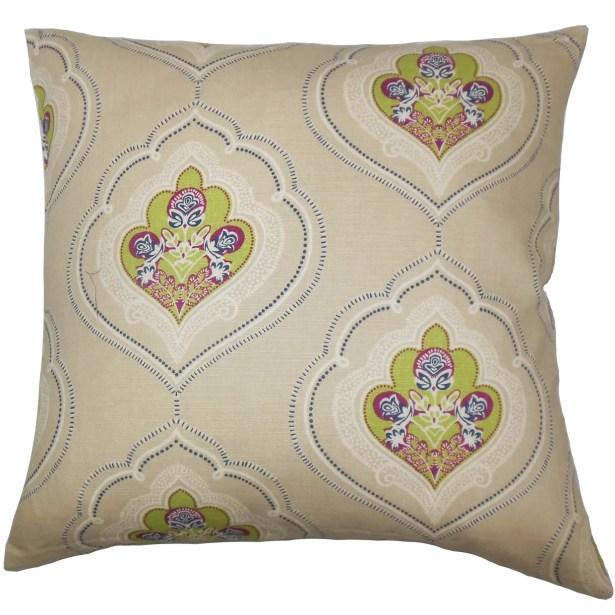 Beauford Floral Bedding Sham Size: Standard, Color: Green