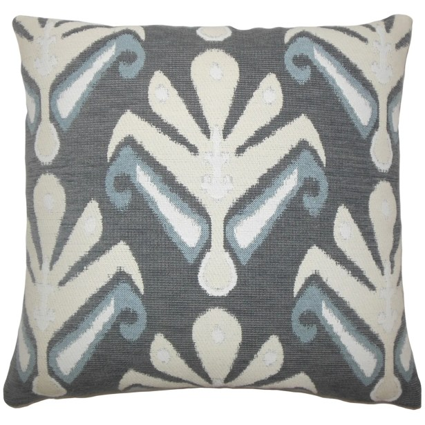 Berke Ikat Bedding Sham Size: King, Color: Stone