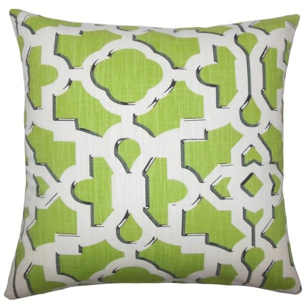 Calixte Geometric Bedding Sham Color: Citrus, Size: Queen