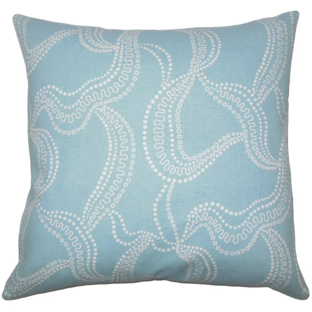 Youvani Graphic Bedding Sham Size: Queen, Color: Pool