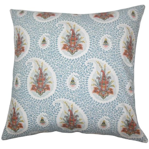 Zaci Floral Bedding Sham Color: Lapis, Size: King