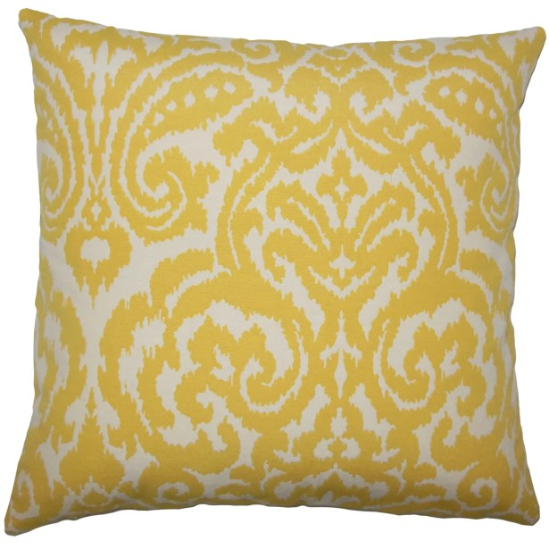 Wafai Ikat Bedding Sham Size: King, Color: Pollen