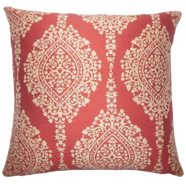 Zanthe Damask Bedding Sham Color: Cayenne, Size: Standard
