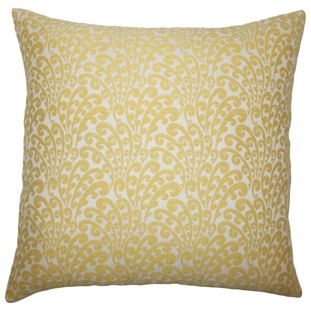 Ilkay Floral Bedding Sham Color: Buttercup, Size: Euro