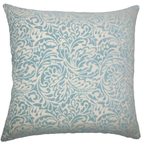 Sagebrush Damask Bedding Sham Size: Euro, Color: Turquoise