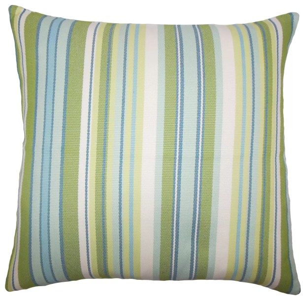 Urbaine Striped Bedding Sham Size: Euro, Color: Blue / Green