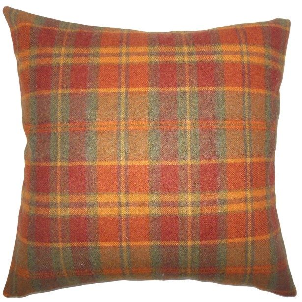 Maeko Plaid Bedding Sham Size: Euro