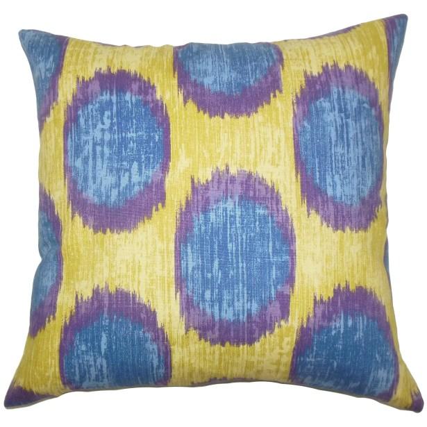 Ridha Ikat Bedding Sham Size: Euro, Color: Purple Sage
