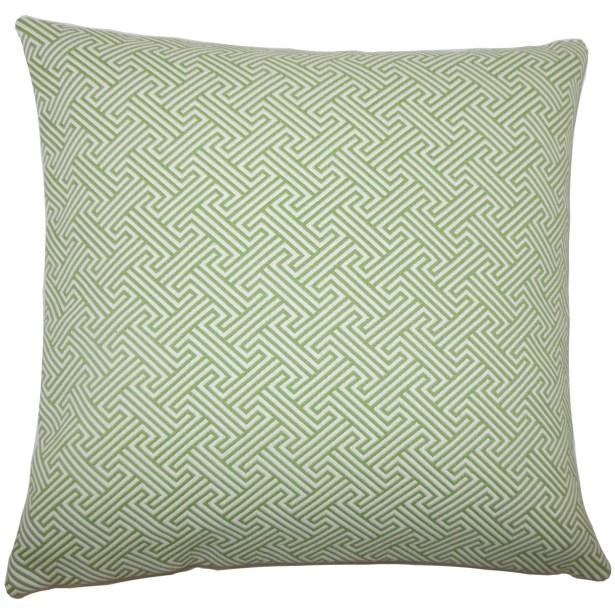 Reijo Geometric Bedding Sham Size: King, Color: Kiwi