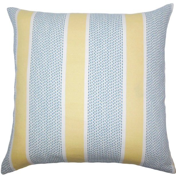 Velten Striped Cotton Throw Pillow Size: 20