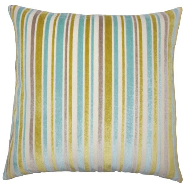 Lalana Striped Throw Pillow Size: 22