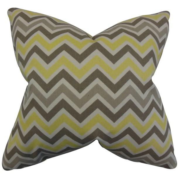 Downend Zigzag Floor Pillow Color: Yellow