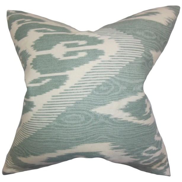 Delano Ikat Floor Pillow Color: Teal