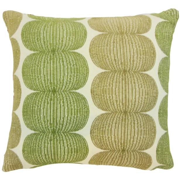 Sophronia Graphic Floor Pillow Kiwi Color: Kiwi