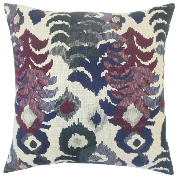 Addison Ikat Floor Pillow Color: Berry