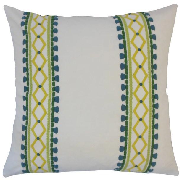 Navarro Geometric Floor Pillow Color: Palm